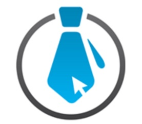 TIEsystems Logo: A Blue Tie On White Background